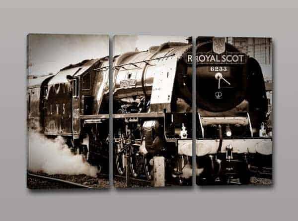Quadri moderni stampa su tela treno vintage arredo