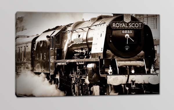 Quadro moderno stampa su tela treno vintage arredo