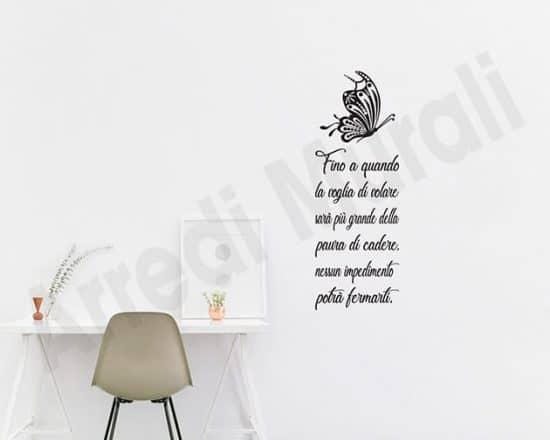 Adesivi da muro frase volare decorazioni murali