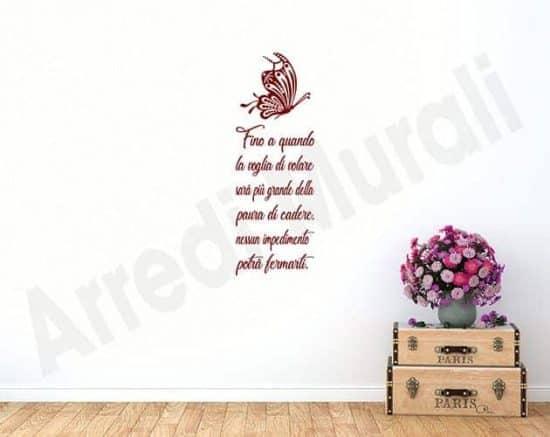adesivi murali frase volare decorazioni da parete