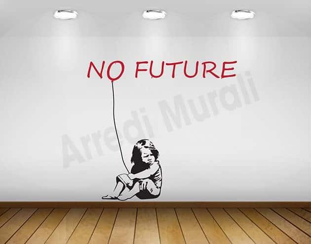 adesivi murali graffito Banksy no future arte