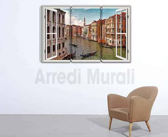 quadri moderni stampa finestra Venezia
