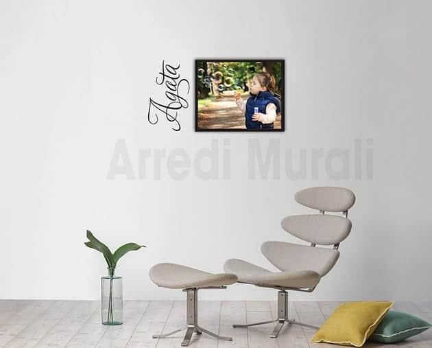 quadro moderno personalizzato con adesivi murali