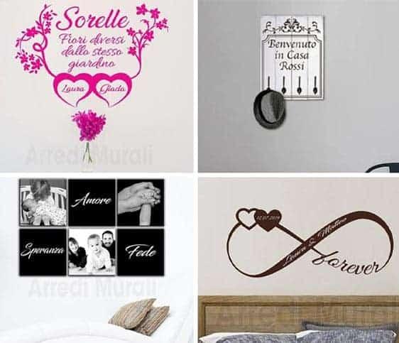regali personalizzati con decorazioni da parete