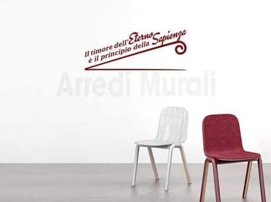 wall stickers frase eterno adesivi murali