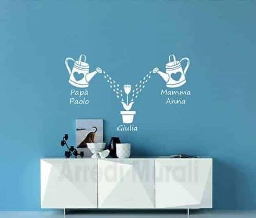 Adesivi da parete personalizzati famiglia decorazioni
