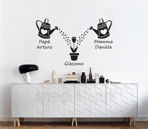 Adesivi murali personalizzati famiglia-decorazioni