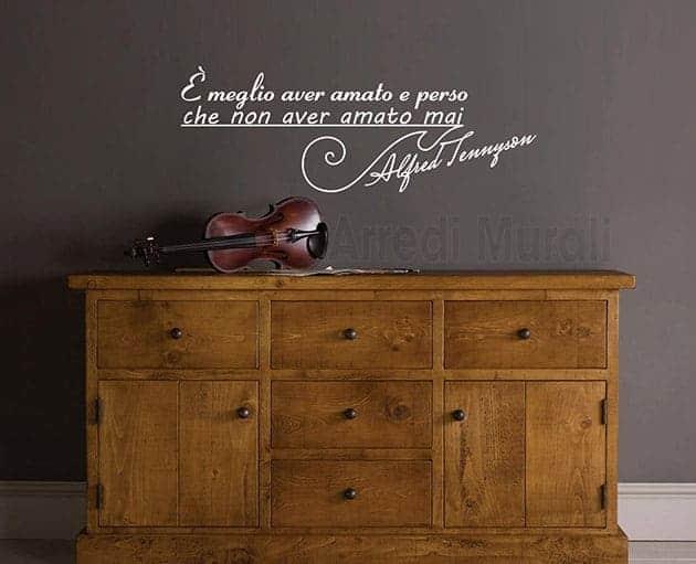 adesivi da parete frase Alfred Tennyson scritte decorative
