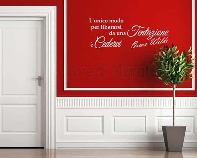 adesivi da parete frase Oscar Wilde decorazione murale