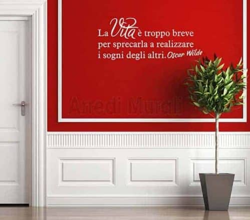 adesivi da parete frase Oscar Wilde decorazioni murali