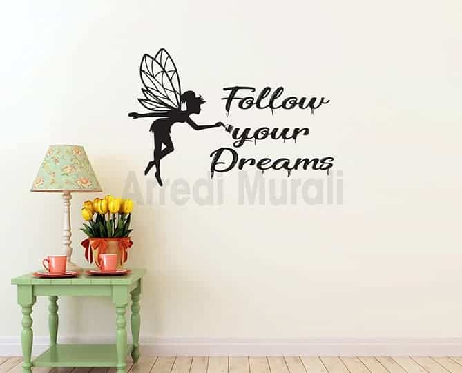 adesivi murali follow your dreams scritte adesive