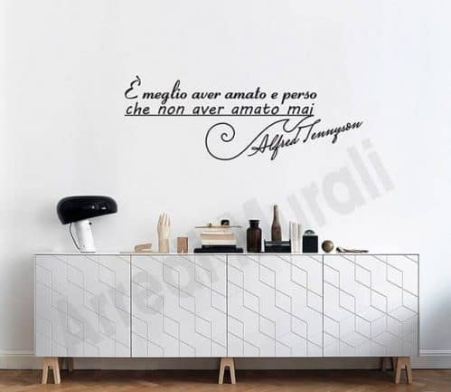 adesivi murali frase Alfred Tennyson scritte decorative