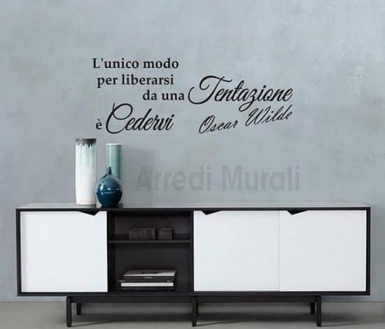adesivi murali frase Oscar Wilde decorazione da parete