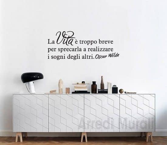 adesivi murali frase Oscar Wilde decorazioni da parete