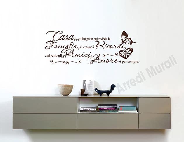 Scritte adesive murali frase casa decorazioni da parete for Mattonelle adesive da parete