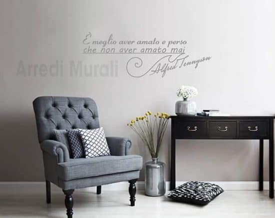 decorazioni da parete frase Alfred Tennyson scritte decorative
