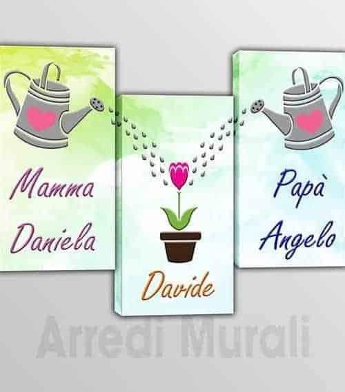 quadri moderni personalizzati nomi famiglia