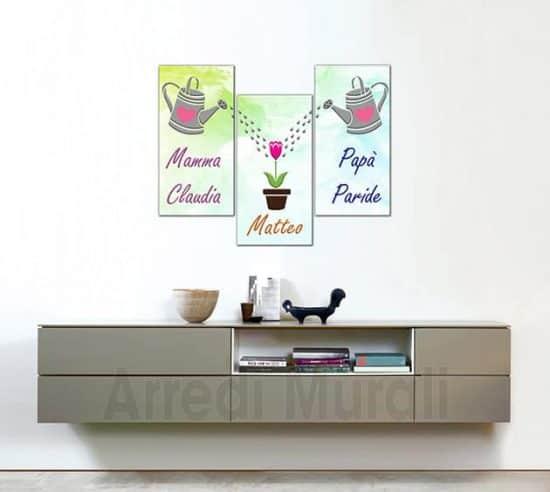 quadri moderni personalizzati nomi famiglia stampe