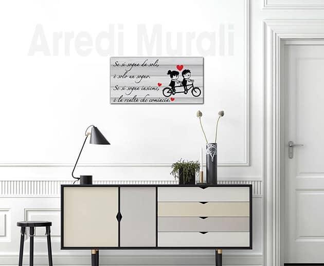 quadro moderno frase insieme tela arte digitale