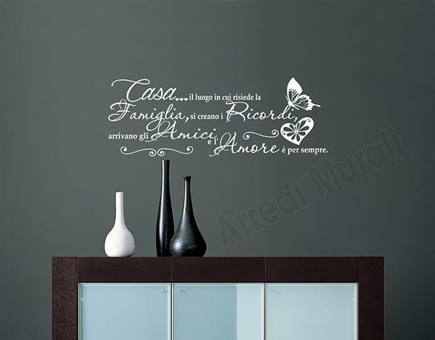 Decorazioni Per Pareti Adesive.Scritte Adesive Murali Frase Casa Decorazioni Da Parete Ws1481