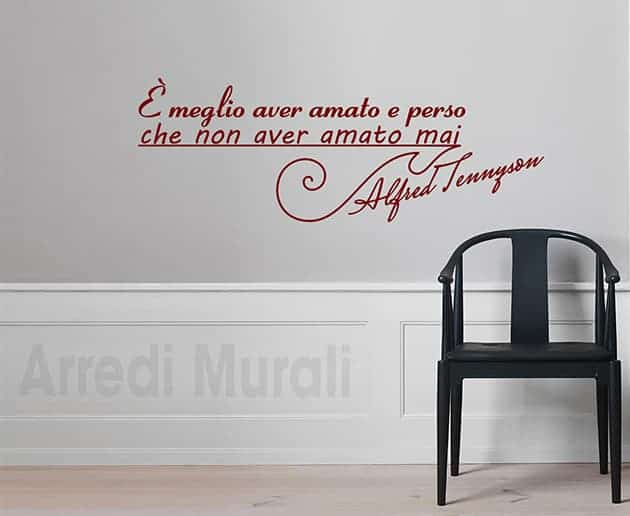 wall stickers frase Alfred Tennyson scritte decorative