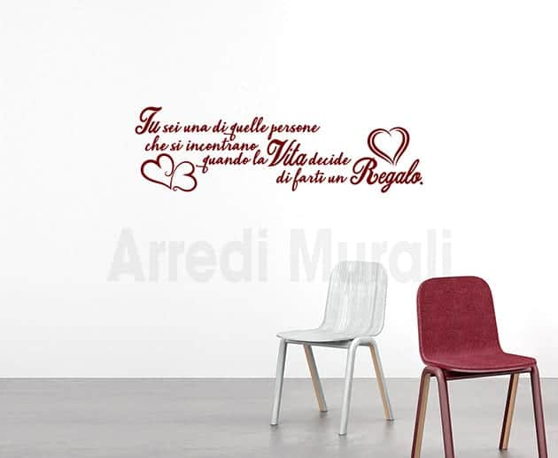 wall stickers frase Dickens scritte decorative murali