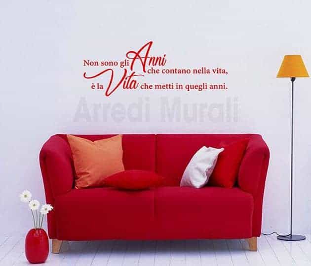 wall stickers frase Lincoln decorazioni da parete