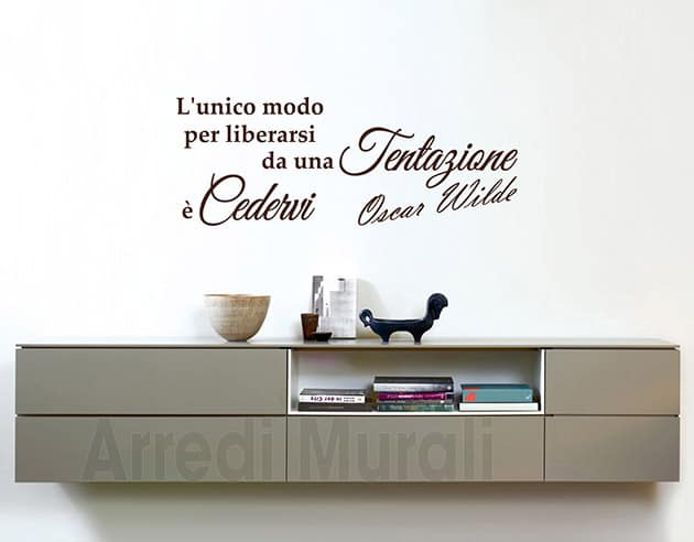 wall stickers frase Oscar Wilde decorazione murale