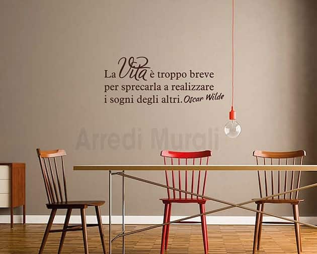 wall stickers frase Oscar Wilde decorazioni murali