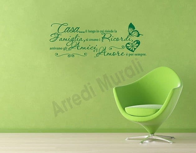 wall stickers frase casa scritte decorative da parete