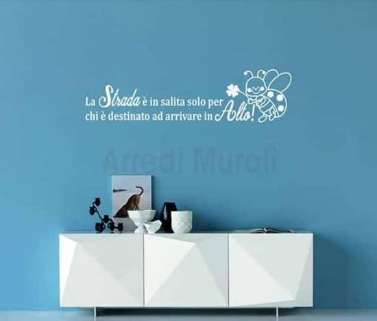 wall stickers frase di augurio scritte decorative
