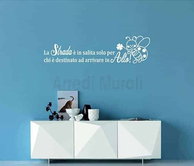 wall stickers frase di augurio scritte decorative