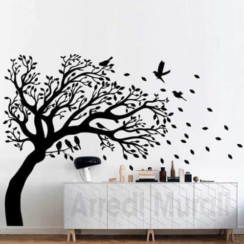 Adesivi murali albero decorazioni da parete nero