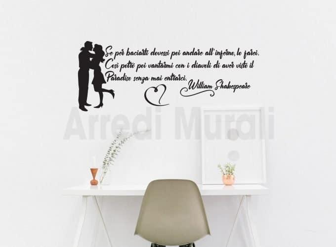 adesivi murali frase adesiva kissing