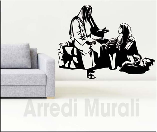 adesivi da parete Gesù e la samaritana decorazioni murali