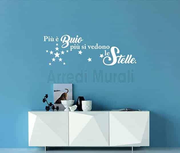 adesivi da parete frase stelle decorazioni murali