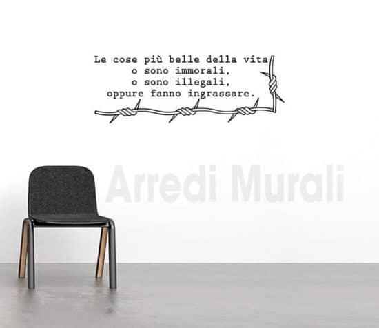 adesivi murali frase Bernard Shaw decorazioni da parete