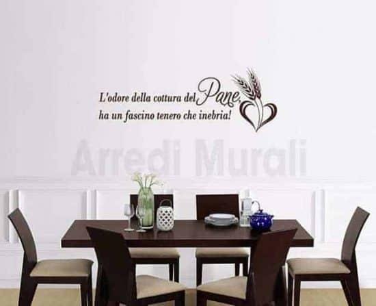 adesivi murali frase pane decorazioni da parete cucina