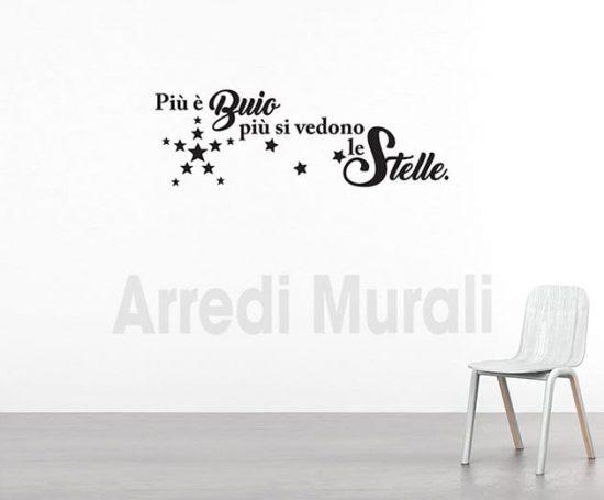 adesivi murali frase stelle decorazioni da parete