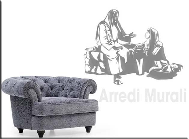decorazioni da parete Gesù e la samaritana adesivi murali
