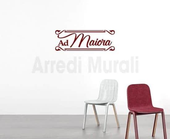 decorazioni da parete frase ad maiora adesivi murali