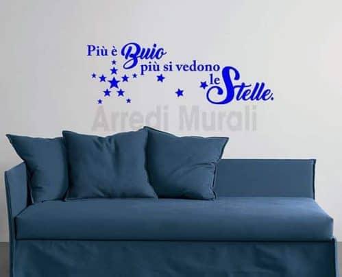 decorazioni da parete frase stelle adesivi murali