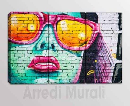 quadri moderni stampe su tela graffito arredo