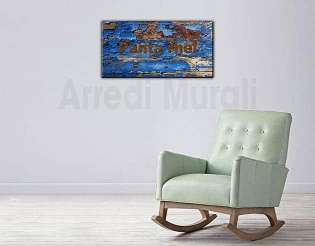 quadro moderno panta rhei stampa tela arte digitale