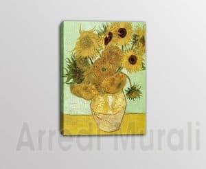 riproduzione -quadro-moderno-Van-Gogh-Vaso-di-girasoli