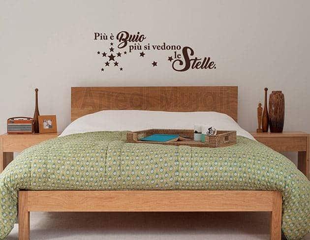 adesivi murali camera da letto stelle