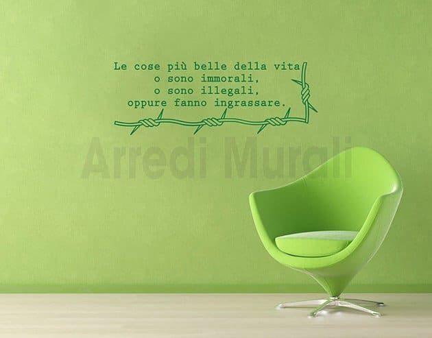wall stickers frase Bernard Shaw decorazioni murali