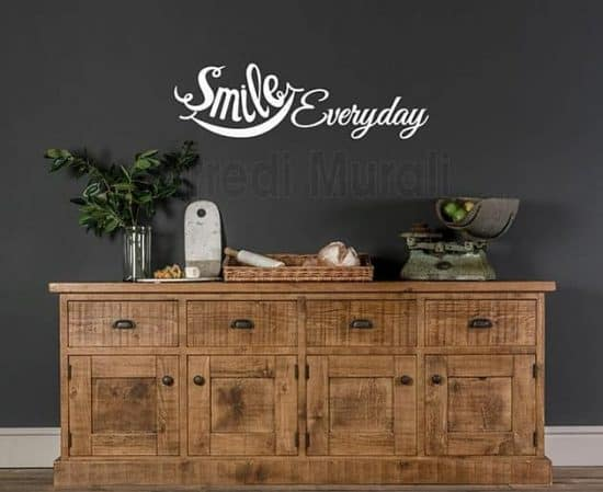 wall stickers frase smile everyday decorazioni