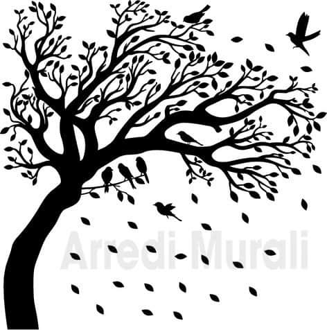 adesivi da muro albero