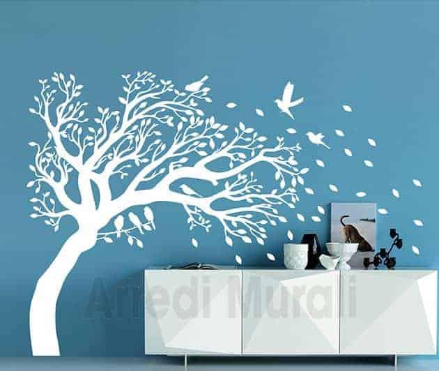 adesivi da parete albero decorazioni murali casa